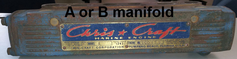 Chris Craft A or B manifold