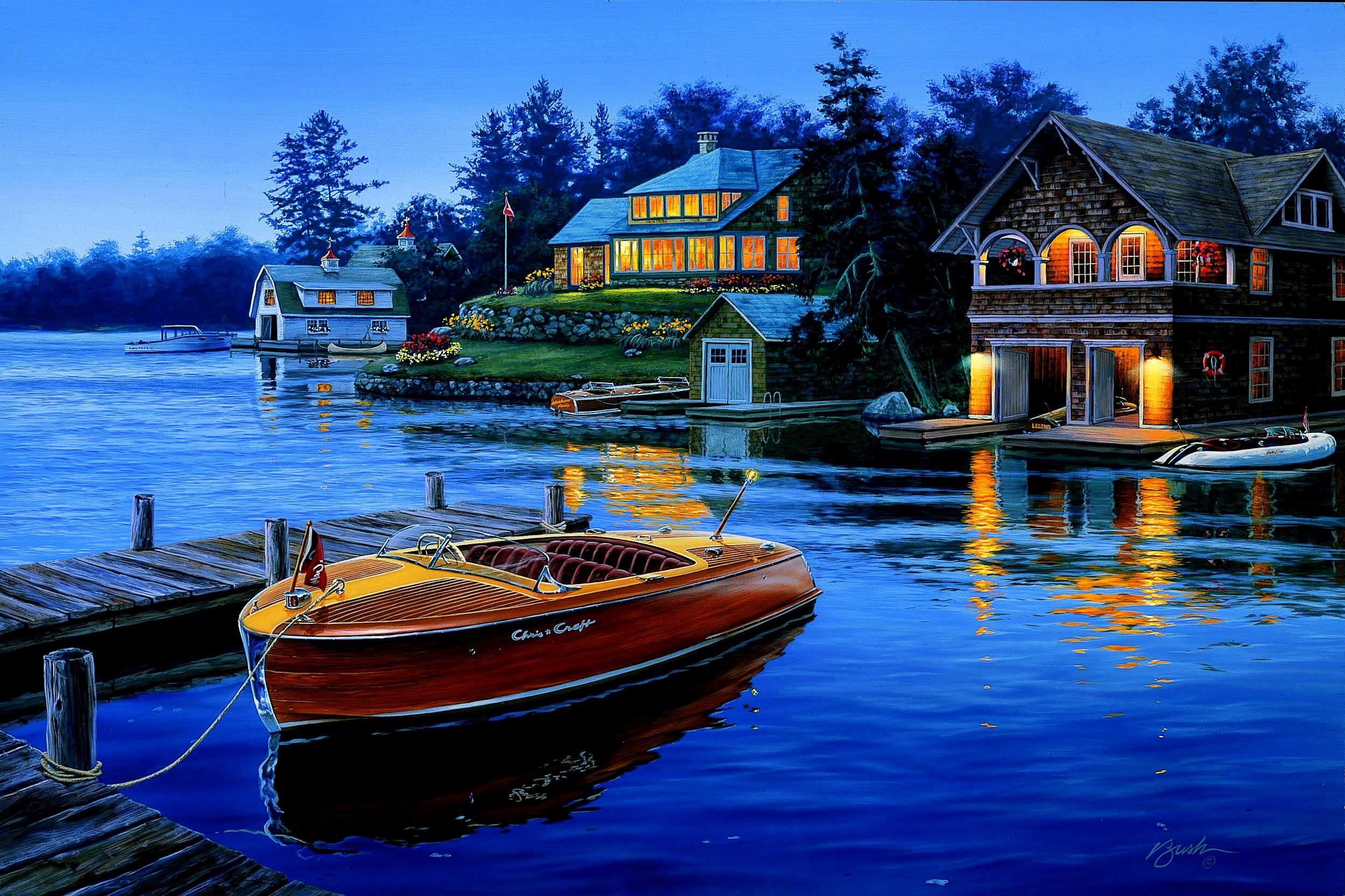 Wakeboarding Boat Wallpaper Chris craft, Classic b...