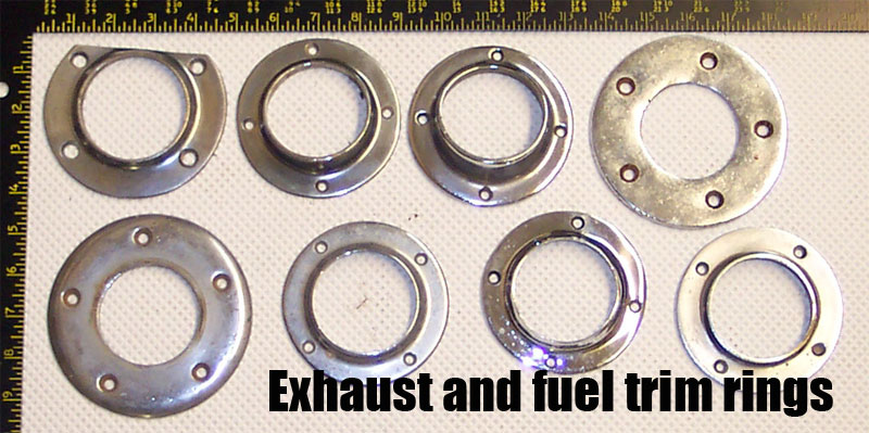 exhaust & fuel trim rings
